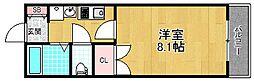 大阪府枚方市春日元町1丁目の賃貸アパートの間取り