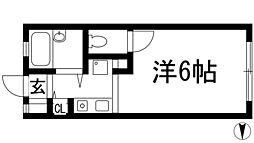 ルシエール甲東園[1階]の間取り