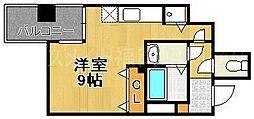 リード桜坂[6階]の間取り