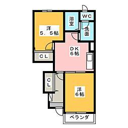 ドゥーメゾンN[1階]の間取り