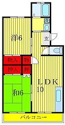 小松コーポII[4階]の間取り