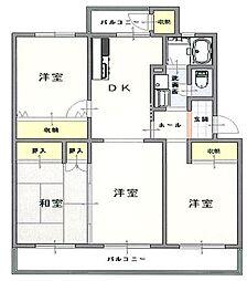 鎌ケ谷グリーンハイツ50号棟3階