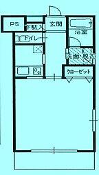 ケーズガーデン[2階]の間取り