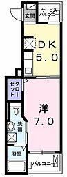 東京都あきる野市秋留1丁目の賃貸アパートの間取り