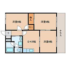 静岡県藤枝市瀬古2丁目の賃貸アパートの間取り