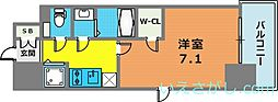 エスリード神戸三宮ラグジェ[6階]の間取り