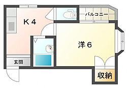 フローラル・ヴィラ[4階]の間取り