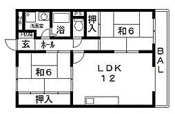 椋風苑A棟[305号室号室]の間取り