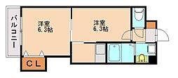 バリアトップ小笹[5階]の間取り