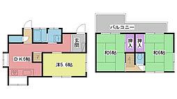 [一戸建] 兵庫県西宮市甲子園洲鳥町 の賃貸【/】の間取り
