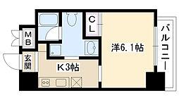 OAZO千里丘マンション[404号室]の間取り