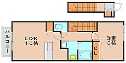 サンライズアカシア[2階]の間取り