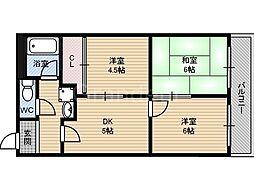 ホワイトシャンボール[4階]の間取り