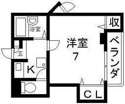 サツキマンション[401号室号室]の間取り