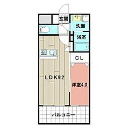 LE GRAND BLEU HAKATA 14階1LDKの間取り