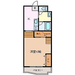 メゾンレスポアール[2階]の間取り