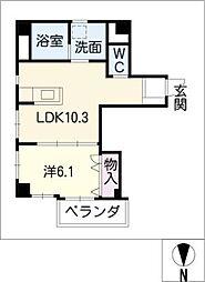 サン栄ビル[10階]の間取り