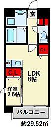 U's Residence 門司港オーシャンテラス 1階1LDKの間取り