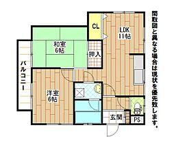 エメラルドマンション大門[1階]の間取り