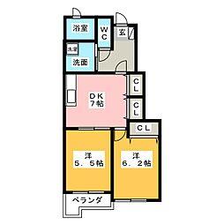 メゾン・ド・ロワールII B[1階]の間取り