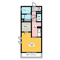 [新築] 東栄町シングル 仮称 3階1Kの間取り