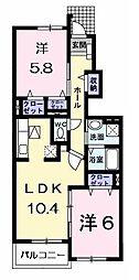ラフレシール・メゾン宮崎2[105号室]の間取り