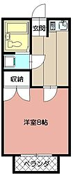 ステーションハイツII[203号室]の間取り