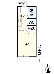 クレール垣戸[1階]の間取り