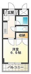 パークサイドフジイ[4階]の間取り