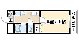 愛知県名古屋市守山区四軒家2丁目の賃貸アパートの間取り