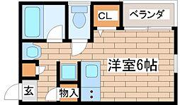兵庫県神戸市東灘区魚崎南町7の賃貸アパートの間取り