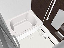 同仕様写真浴室はハウステック製の新品のユニットバスに交換します。浴槽には滑り止めの凹凸があり、床は濡れた状態でも滑りにくい加工がされている安心設計です。