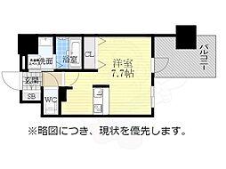 アドバンス名古屋モクシー 14階1Kの間取り