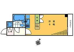 CROSS高田馬場 3階ワンルームの間取り