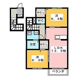 ESTASIA[2階]の間取り