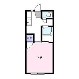 エスプリコート[2階]の間取り
