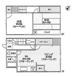 [一戸建] 東京都葛飾区細田1丁目 の賃貸【/】の間取り