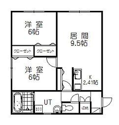 仮)4-23新築MS[201号室]の間取り