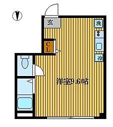 セカンドY・K[2階]の間取り
