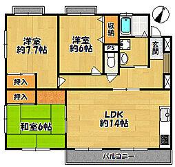 アーブル・ベール1[1階]の間取り