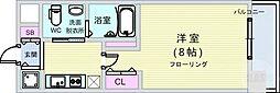 Osaka Metro長堀鶴見緑地線 西大橋駅 徒歩5分の賃貸マンション 9階1Kの間取り