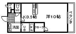 ラ・ストラーダ[108号室]の間取り
