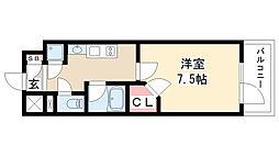愛知県名古屋市昭和区川原通5丁目の賃貸マンションの間取り