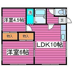北海道札幌市東区北三十六条東19丁目の賃貸アパートの間取り