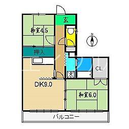 アバン寿[1階]の間取り