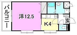 マリベール・トレ5 3階1Kの間取り