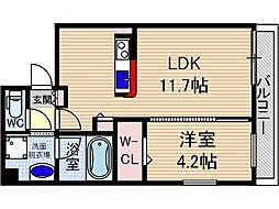 仮称)山崎マンション元町[4階]の間取り