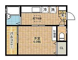 パインクレスト川崎[1-C号室]の間取り