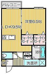 大阪府高槻市登町の賃貸マンションの間取り