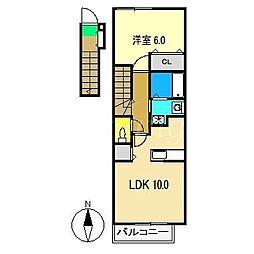 ヴィラ緑ヶ丘 三番館[2階]の間取り